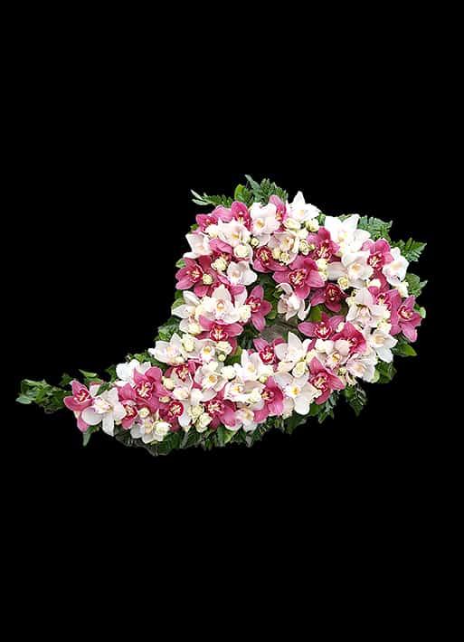 Aranjament floral lacrima - orhidee si minirose