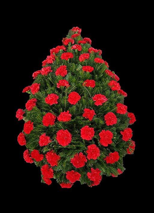 Coroana Funerara - Garoafe Rosii