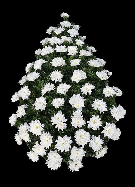 Coroana Funerara - Crizanteme Olandeze Albe