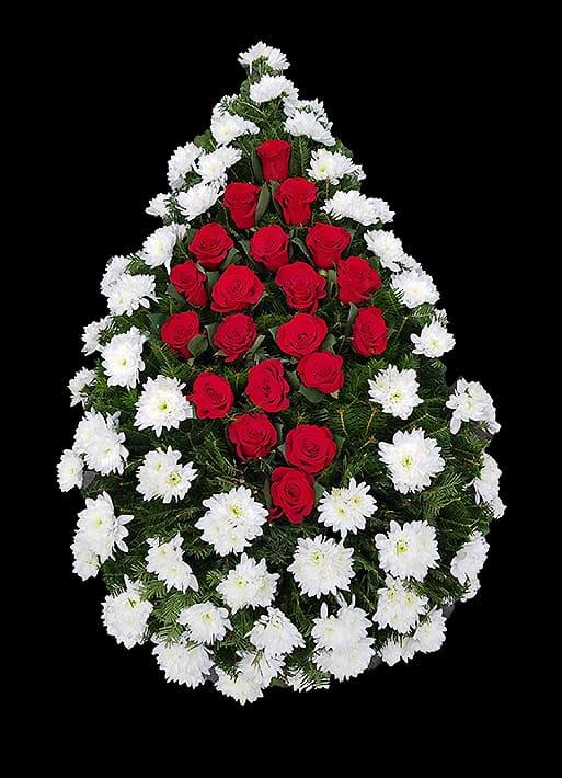 Coroane Funerare F24 - Crizanteme si Trandafiri - F24