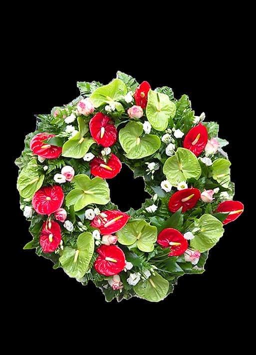 Aranjament Floral - anthurium si lisianthus