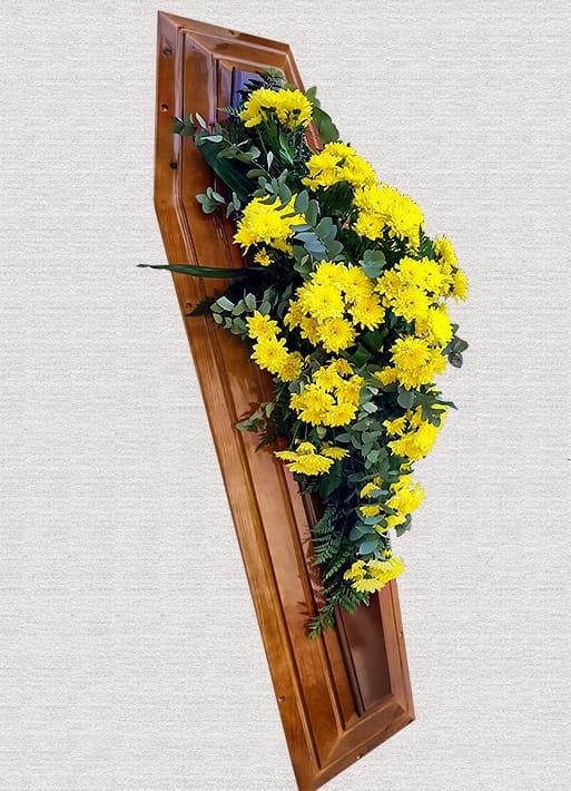 Buchet Sicriu Crizanteme Galbene